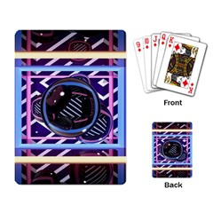 Abstract Sphere Room 3d Design Playing Card