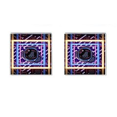 Abstract Sphere Room 3d Design Cufflinks (square)