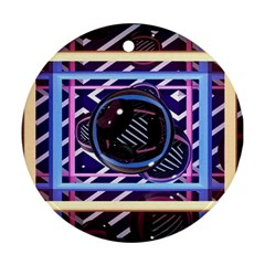 Abstract Sphere Room 3d Design Round Ornament (two Sides)
