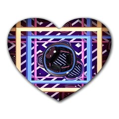 Abstract Sphere Room 3d Design Heart Mousepads