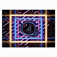 Abstract Sphere Room 3d Design Large Glasses Cloth (2 Side)