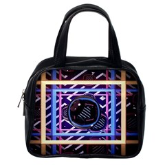 Abstract Sphere Room 3d Design Classic Handbags (one Side)