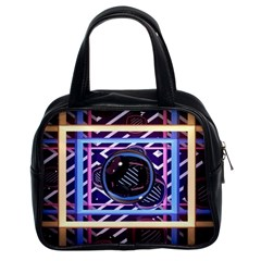 Abstract Sphere Room 3d Design Classic Handbags (2 Sides)