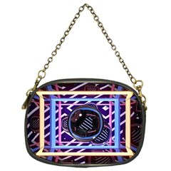 Abstract Sphere Room 3d Design Chain Purses (One Side)