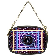 Abstract Sphere Room 3d Design Chain Purses (two Sides)