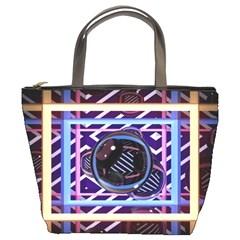 Abstract Sphere Room 3d Design Bucket Bags