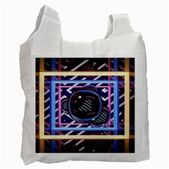 Abstract Sphere Room 3d Design Recycle Bag (one Side)
