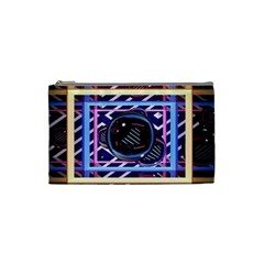 Abstract Sphere Room 3d Design Cosmetic Bag (small)