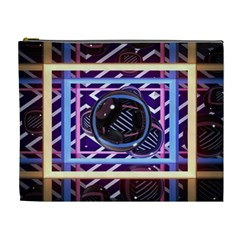 Abstract Sphere Room 3d Design Cosmetic Bag (xl)