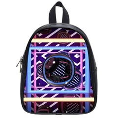 Abstract Sphere Room 3d Design School Bags (small)