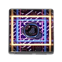 Abstract Sphere Room 3d Design Memory Card Reader (square)