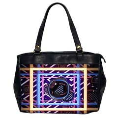 Abstract Sphere Room 3d Design Office Handbags (2 Sides)