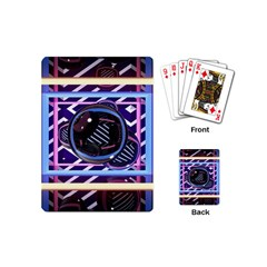 Abstract Sphere Room 3d Design Playing Cards (mini)