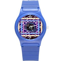 Abstract Sphere Room 3d Design Round Plastic Sport Watch (S)