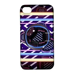 Abstract Sphere Room 3d Design Apple Iphone 4/4s Hardshell Case With Stand