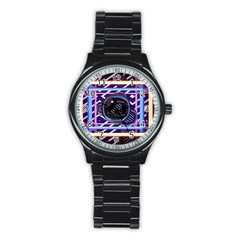 Abstract Sphere Room 3d Design Stainless Steel Round Watch
