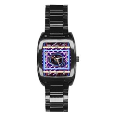 Abstract Sphere Room 3d Design Stainless Steel Barrel Watch