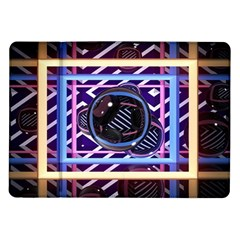 Abstract Sphere Room 3d Design Samsung Galaxy Tab 10 1  P7500 Flip Case