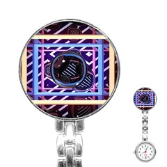Abstract Sphere Room 3d Design Stainless Steel Nurses Watch