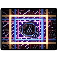 Abstract Sphere Room 3d Design Double Sided Fleece Blanket (large)