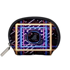 Abstract Sphere Room 3d Design Accessory Pouches (small)