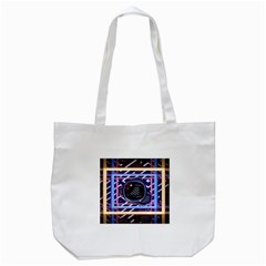 Abstract Sphere Room 3d Design Tote Bag (white)