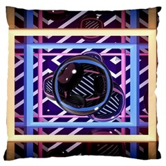 Abstract Sphere Room 3d Design Large Flano Cushion Case (one Side)
