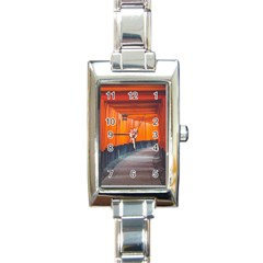 Architecture Art Bright Color Rectangle Italian Charm Watch