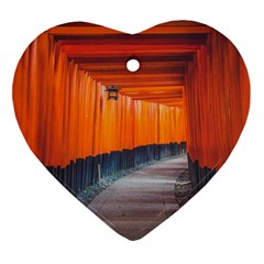 Architecture Art Bright Color Ornament (heart)