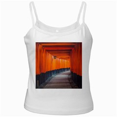 Architecture Art Bright Color White Spaghetti Tank