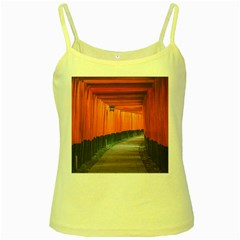 Architecture Art Bright Color Yellow Spaghetti Tank