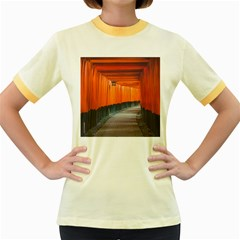 Architecture Art Bright Color Women s Fitted Ringer T Shirts