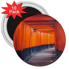 Architecture Art Bright Color 3  Magnets (10 Pack)