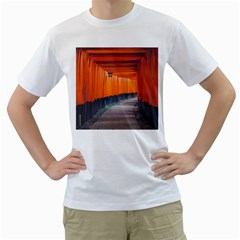 Architecture Art Bright Color Men s T Shirt (white) (two Sided)