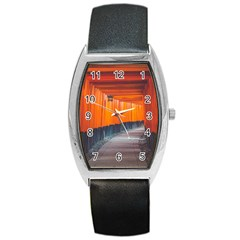 Architecture Art Bright Color Barrel Style Metal Watch