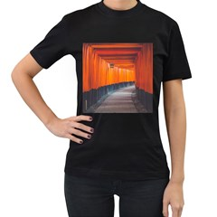 Architecture Art Bright Color Women s T Shirt (black) (two Sided)