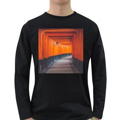 Architecture Art Bright Color Long Sleeve Dark T Shirts