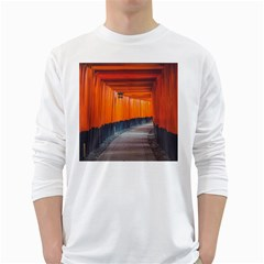 Architecture Art Bright Color White Long Sleeve T Shirts