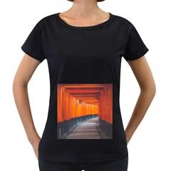 Architecture Art Bright Color Women s Loose Fit T Shirt (black)