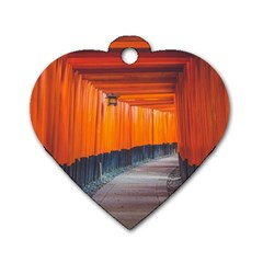 Architecture Art Bright Color Dog Tag Heart (one Side)