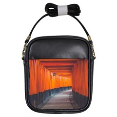 Architecture Art Bright Color Girls Sling Bags