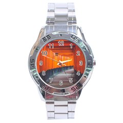 Architecture Art Bright Color Stainless Steel Analogue Watch