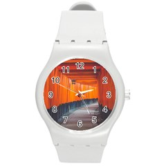 Architecture Art Bright Color Round Plastic Sport Watch (m)