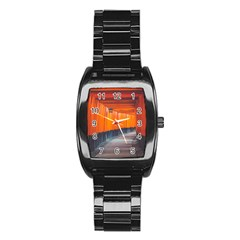 Architecture Art Bright Color Stainless Steel Barrel Watch