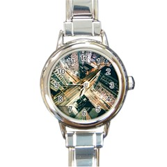 Architecture Buildings City Round Italian Charm Watch