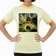 Architecture Buildings City Women s Fitted Ringer T Shirts