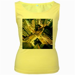 Architecture Buildings City Women s Yellow Tank Top