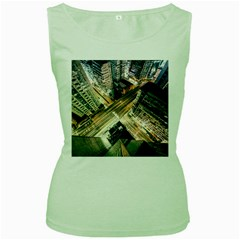 Architecture Buildings City Women s Green Tank Top