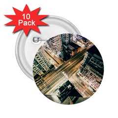 Architecture Buildings City 2 25  Buttons (10 Pack)