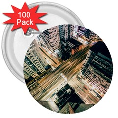 Architecture Buildings City 3  Buttons (100 Pack)